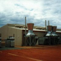 Seven unit prime power diesel power station supplying remote installation in WA.