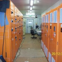 LV switchgear in a prefabricated switchroom supplied for a gas compression plant power station.