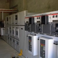 HV switchgear supplied in conjunction with a hospital diesel standby system.