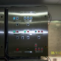 A fuel system control panel undergoing works testing.