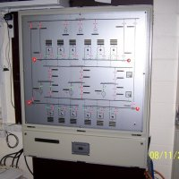 A packaged control room to suit an automated standby system ready for testing.